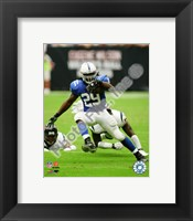 Framed Joseph Addai 2010 Action