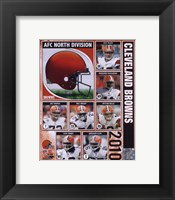 Framed 2010 Cleveland Browns Team Composite