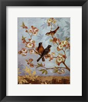 Framed Robins & Blooms - mini