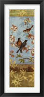 Robins & Blooms Panel Framed Print