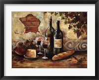 Framed Bountiful Wine II