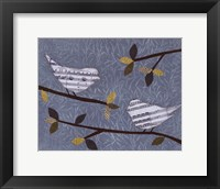 Framed Aqua Songbirds I