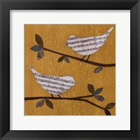 Framed Golden Songbirds II
