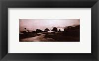 Sepia Island Shores II - petite Framed Print