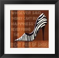 Zebra Shoe Framed Print
