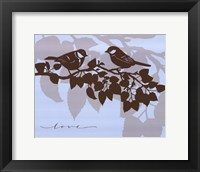 Framed Chickadee Love  - mini