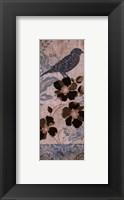 Framed Blue Bird I