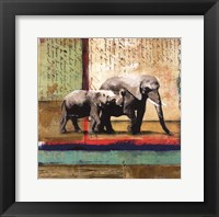 Framed Serengeti Elephant