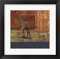 Serengeti Giraffe Framed Print