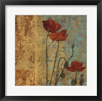 Poppy Pattern I Framed Print