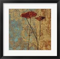 Poppy Pattern II Framed Print
