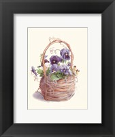 Framed Grapevine Pansy Basket