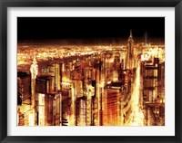 Framed Manhattan Panoramic Nocturne (detail)