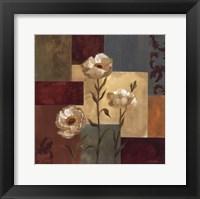 Retro Floral I Framed Print