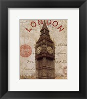 Framed Letter from London