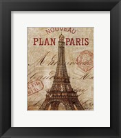 Letter from Paris Framed Print