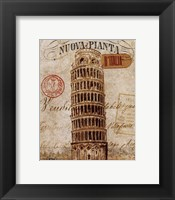 Framed Letter from Pisa