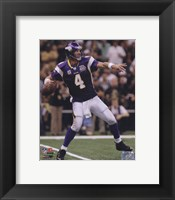 Framed Brett Favre 2010 Action