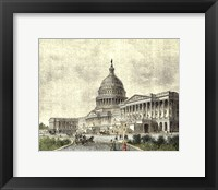 Framed Capitol -East Front