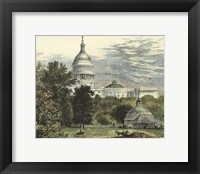 Framed Capitol From the Botanical Gardens