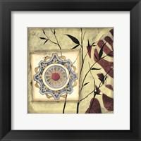 Framed Printed Moonlit Rosette II