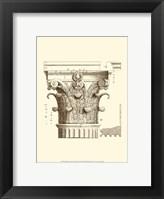 Framed Small Corinthian Detail II (U)