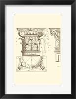 Framed Small Corinthian Detail III (U)