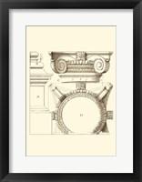 Framed Small Corinthian Detail IV (U)