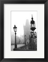 Framed Charles Bridge in Morning Fog I
