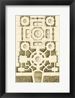 Framed Small Garden Maze III (P)