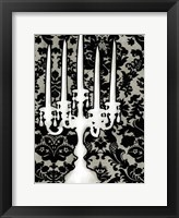 Small Patterned Candelabra II (P) Framed Print