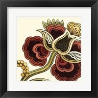 Small Paprika Floral I Framed Print