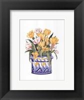 Framed Tub Of Tulips