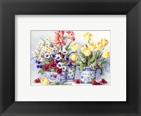 Spring Garden In Blue II Framed Print