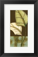 Framed Small Palm Leaf Arabesque I (P)