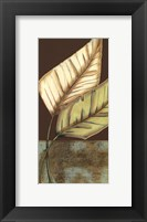 Framed Small Palm Leaf Arabesque II (P)