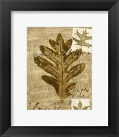 Framed Mini Leaf Collage I (ST)