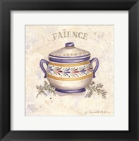 Framed French Pottery I