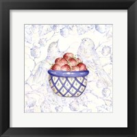Framed Toile & Berries I