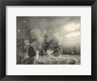 Framed Small Ships at Sea I (P)