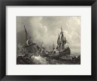 Framed Small Ships at Sea II (P)