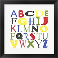 Kid's Room Letters Framed Print