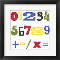 Kid's Room Numbers Framed Print