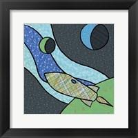 Framed Patchwork Planets I