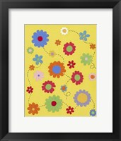 Framed Busy Blooms