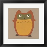 Earth-Tone Owls I Framed Print