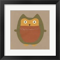Earth-Tone Owls II Framed Print