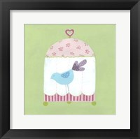 Patchwork Birdcage II Framed Print