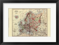 Framed Small Antique Map of Europe (P)