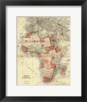 Framed Small Antique Map of Africa (P)